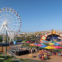 Stage and Big Wheel at Dreamland Margate