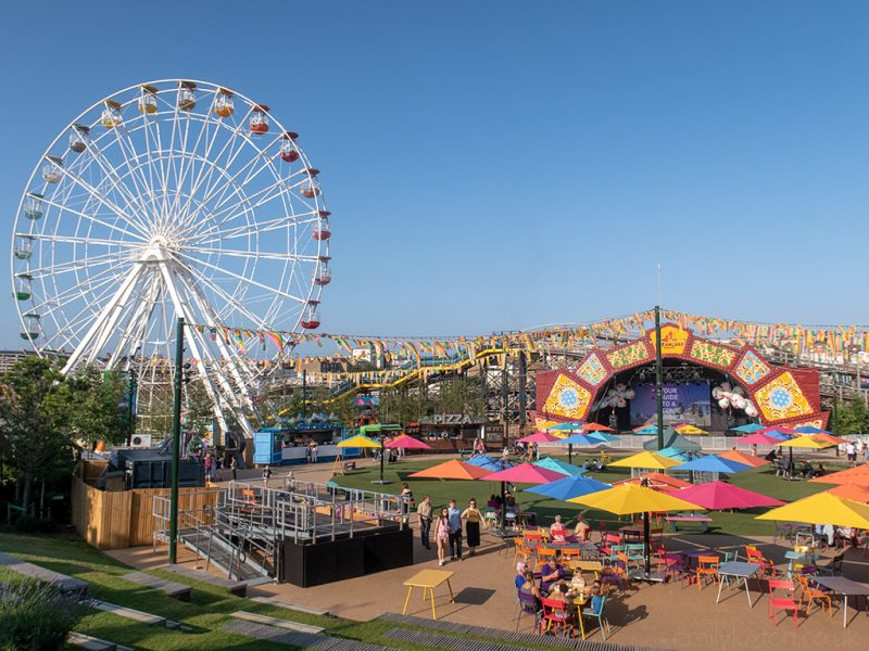 Stage and Big Wheel at Dreamland