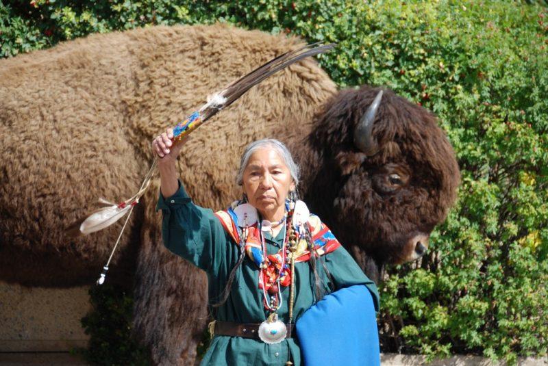 Blackfoor Woman Alberta Canada