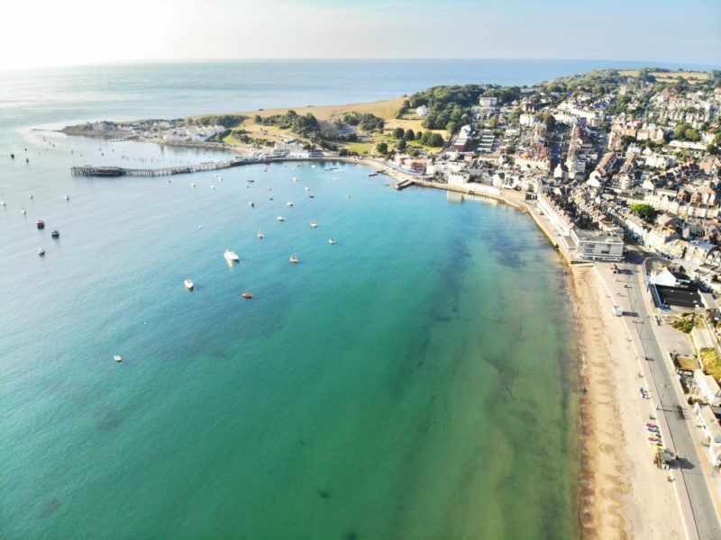 Swanage beach on the Dorset seaside