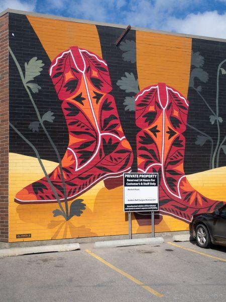 BUMP Murals cowboy boots