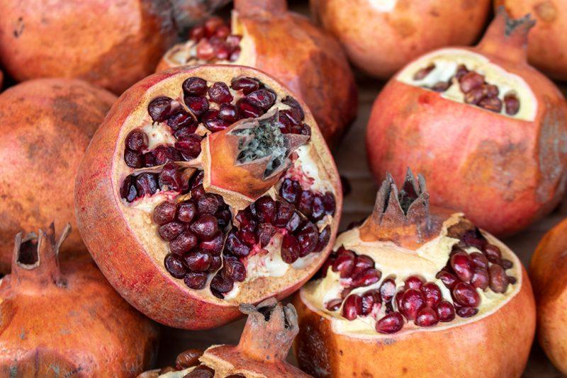 Pomegranites are common in Uzbek cuisine