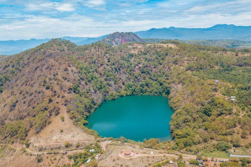 Volcanic Pool near Tacambaro Magic Town in Michoacan, Mexico
