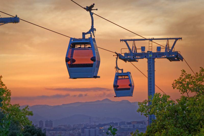 Cable Car Montjuïc Barcelona sunset