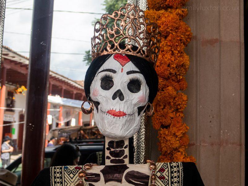 Catrina in Santa Clara del Cobre for Dia de Muertos Mexico