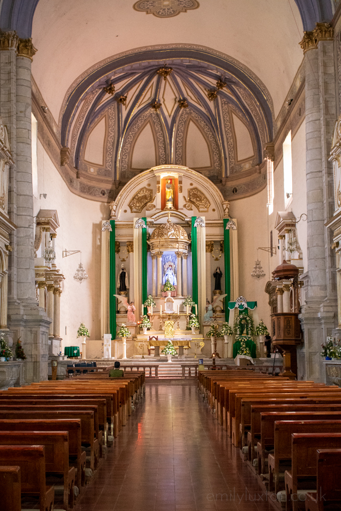 Inside Cutizeo church