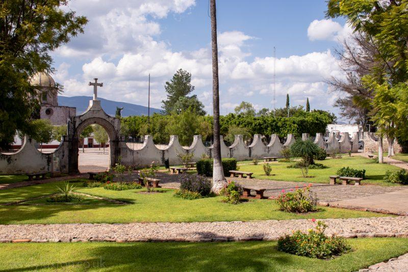 Monastery Garden in Cuitzeo Michoacan
