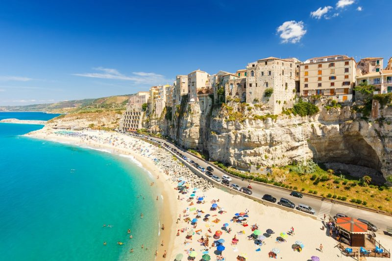 Tropea beach town in italy