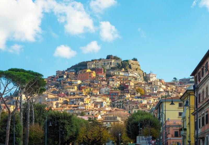 Rocca di Papa hilltop town in italy