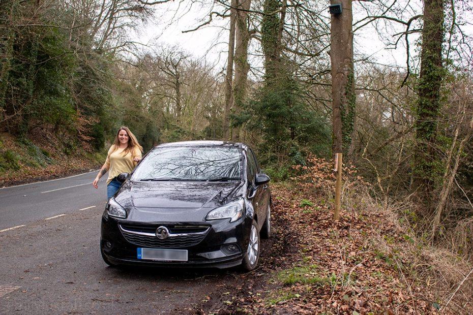 AA Smartbreakdown girl with Vauxhall Corsa