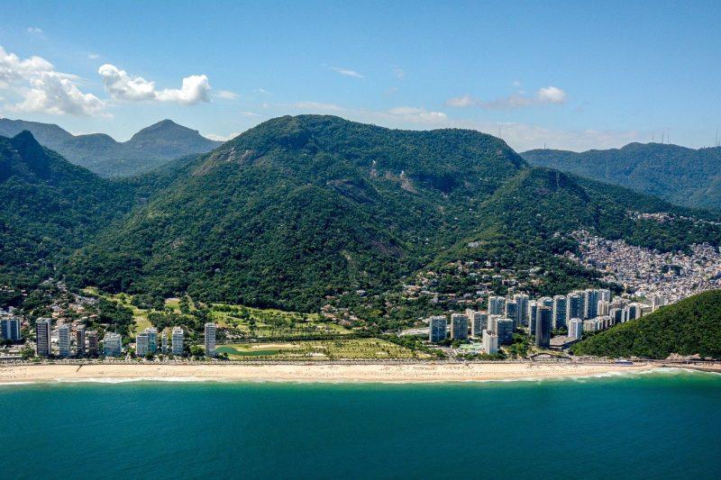 Arial view of Rio de Janeiro Brazil