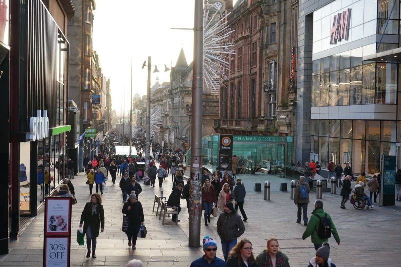 things to do in Glasgow - shopping in Buchanan Street