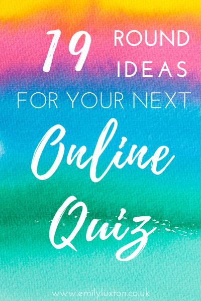 Round Ideas for your next Online Quiz