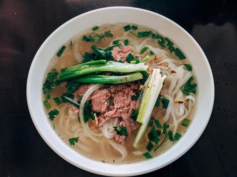 Hanoi Food Guide - bowl of pho in vietnam