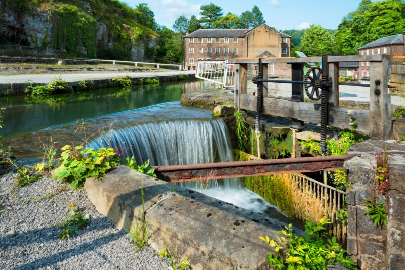 Water intake at mill in Cromford, England