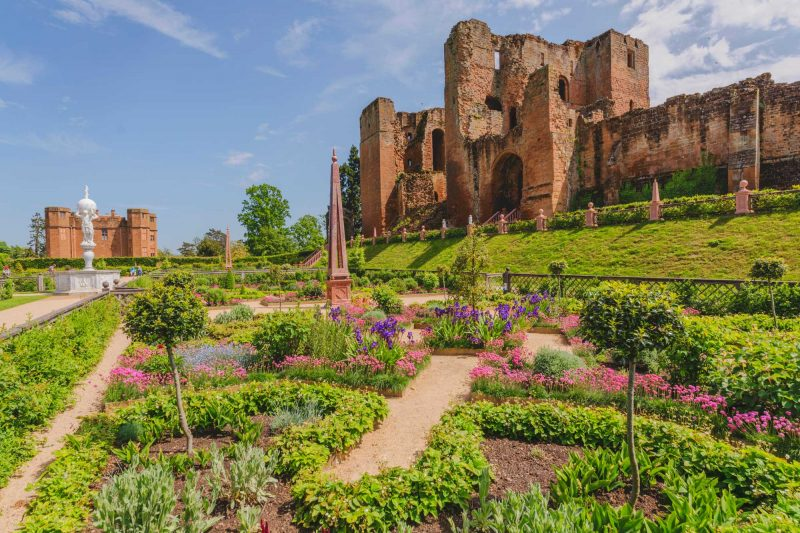 Kenilworth castle-with-view-of-gardens - Places to Visit in the Midlands