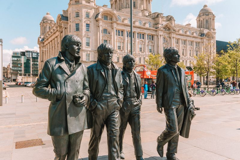 Beatles statues in Liverpool, Northern England