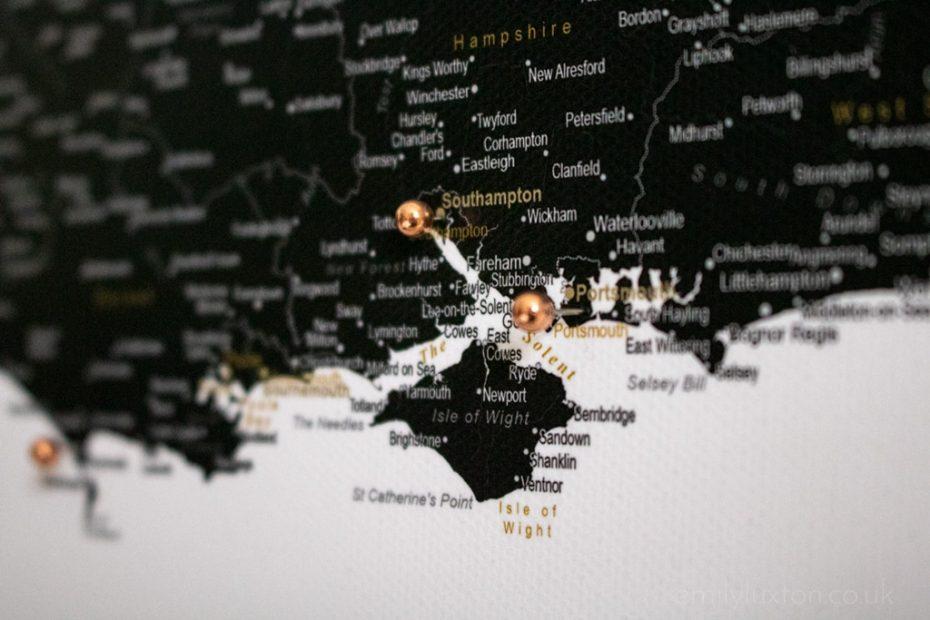 Trip Map Review: A Beautiful UK Push Pin Travel Map