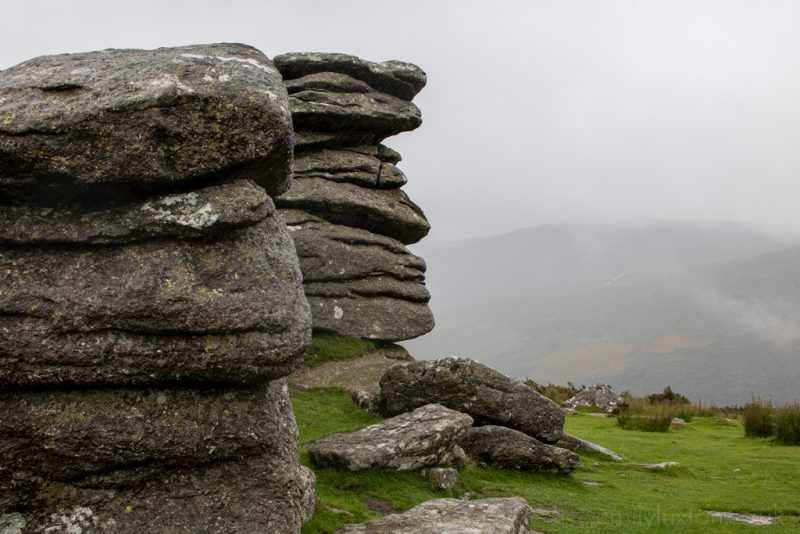 Dartmoor National Park in the Rain