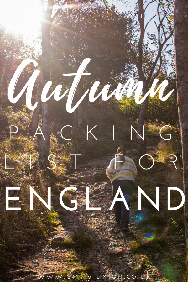 Autumn Packing List for England