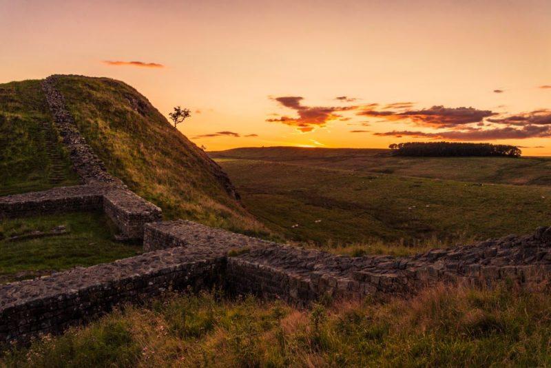 Hadrians Wall England autumn