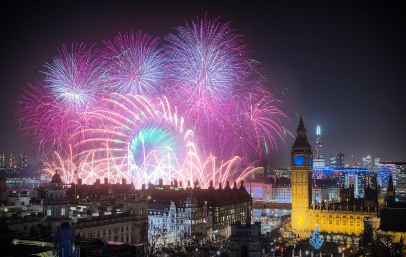 NYE Fireworks over Westminster - one of the best things to do in London