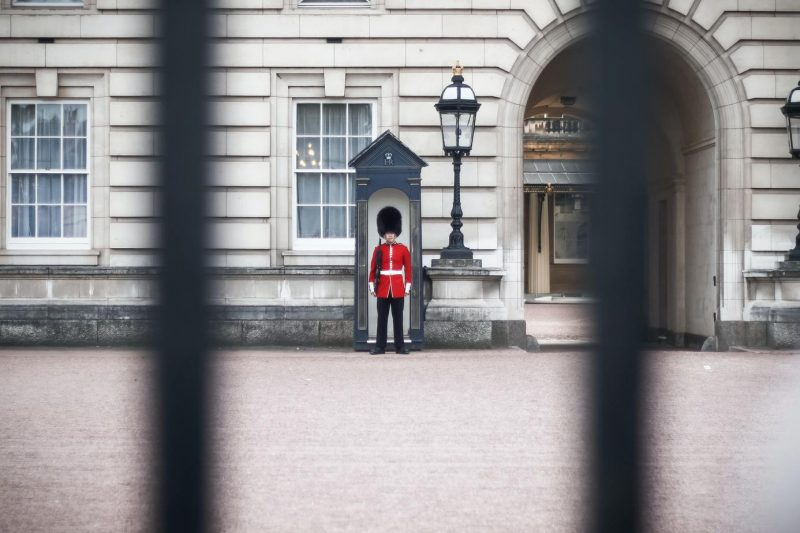 Guard outside Buckingham Palace London