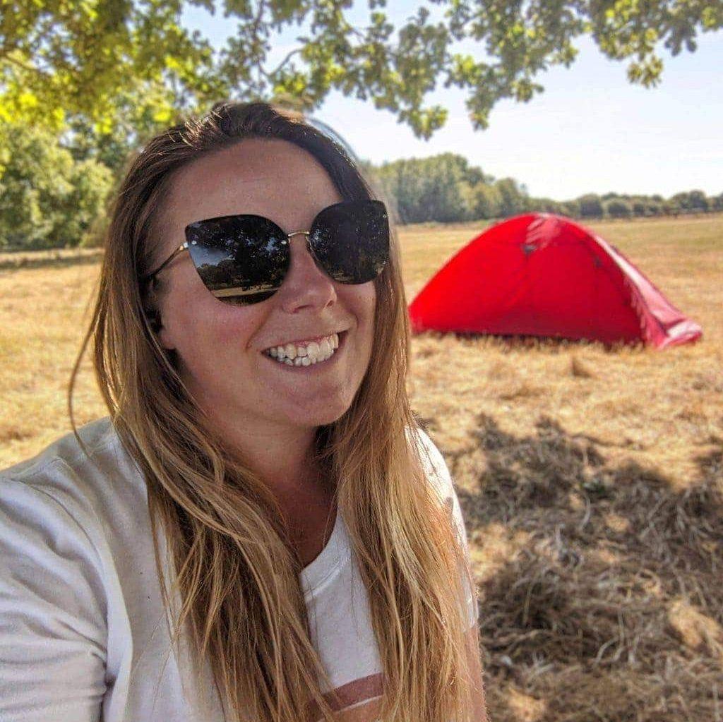 UK travel blogger Emily Luxton solo camping