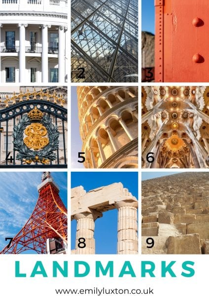 Abstract Travel Landmarks