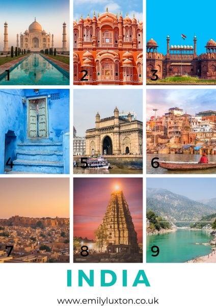 India Destinations Picture Quiz