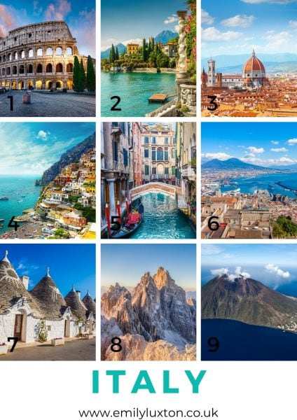 Italy Travel Picture Quiz