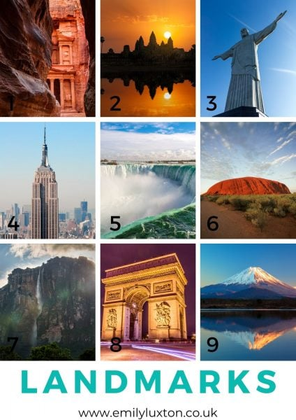 Travel Landmarks Picture Quiz