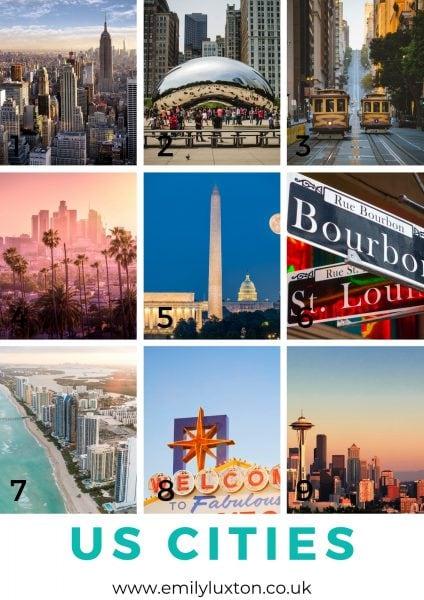 US Cities Quiz Round