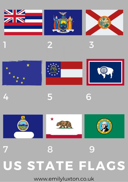 Images of US State Flags