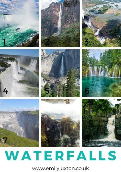 Waterfalls picture quiz