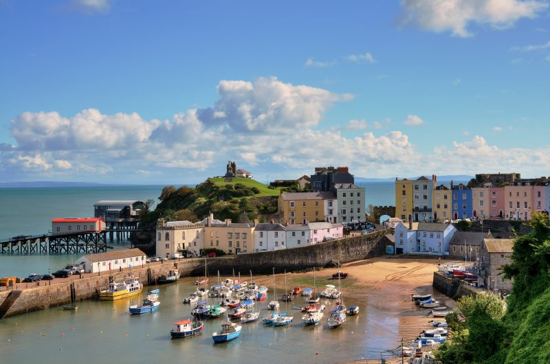 Tenby city viewed from above - one of the best places to visit in South Wales