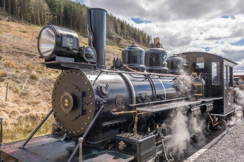 Steam train on the Brecon Mountain Railway