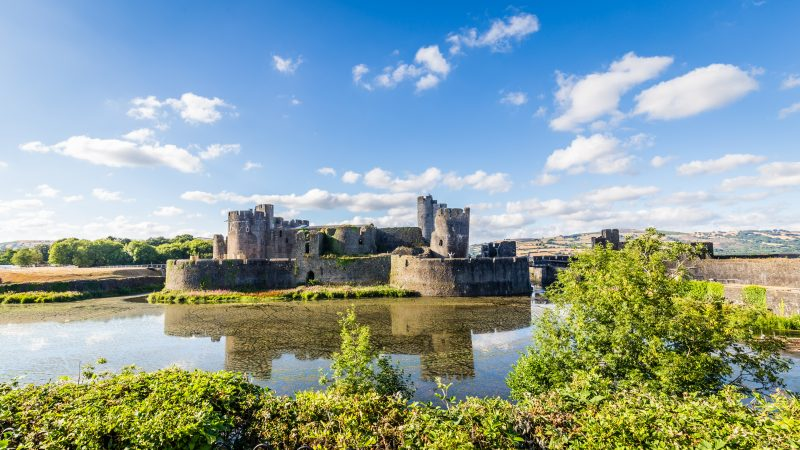 Caerphilly Castle is one of the best places to visit in South Wales
