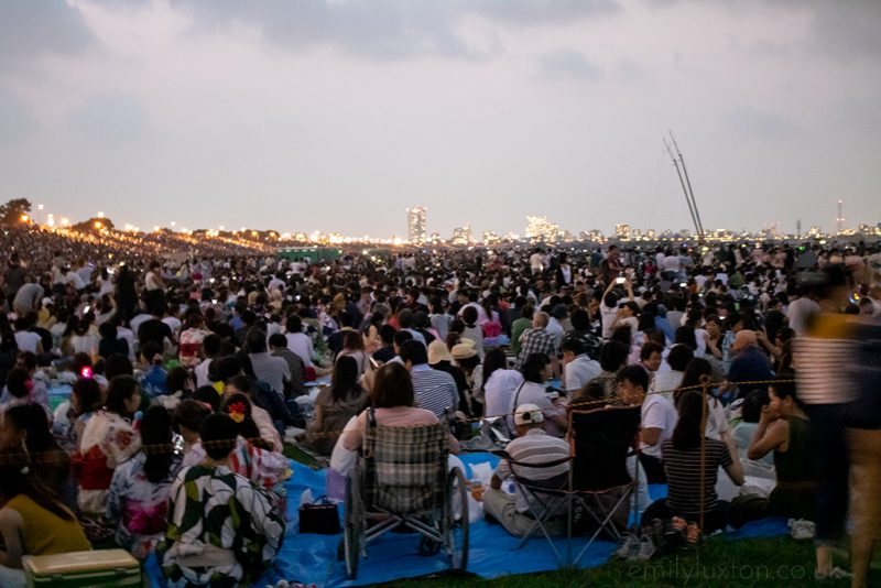 Crowd in Tokyo waiting for an event