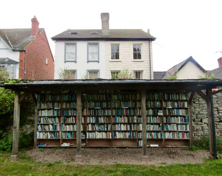 Honesty bookshop in Hay-On-Wye in South Wales