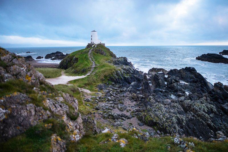 Llanddwyn Lighthouse in Anglesea North Wales