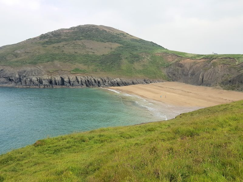 One of the beaches in Cardigan Bay in South West Wales