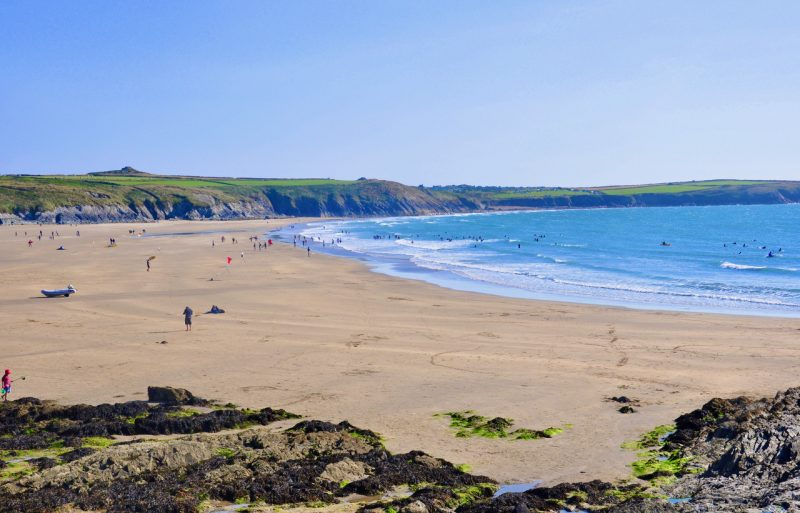 Beach on the Pembrokeshire Coast in South Wales