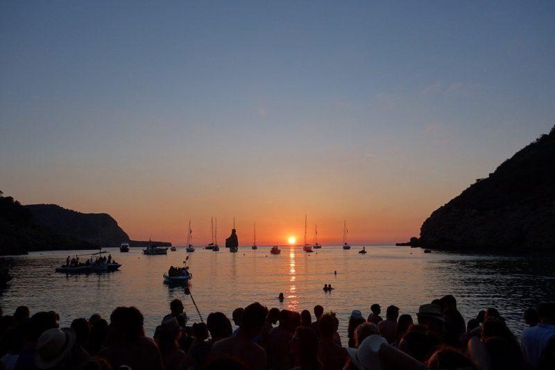 Benirras at sunset - secret beaches in ibiza