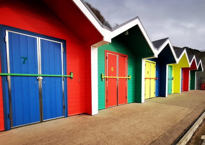 Beach huts on Barry Island in South Wales