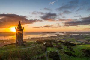 Sunrise over Scrabo Tower Ards Peninsula