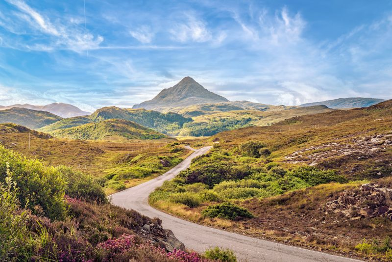 NC 500 long distance cycle route Scotland UK