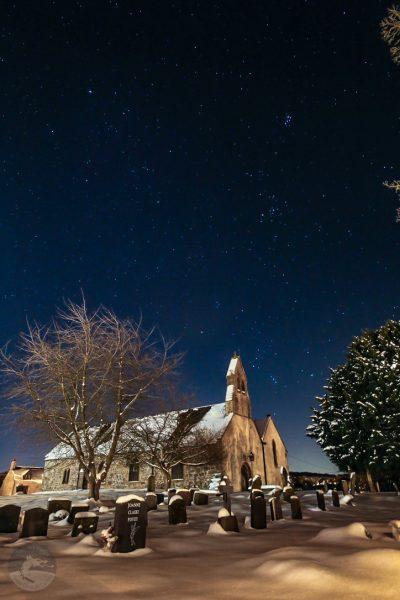 Dark sky stargazing church wales