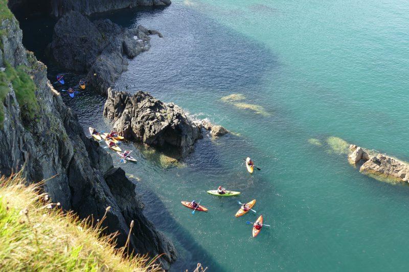 kayaking Pembrokeshire coast wales