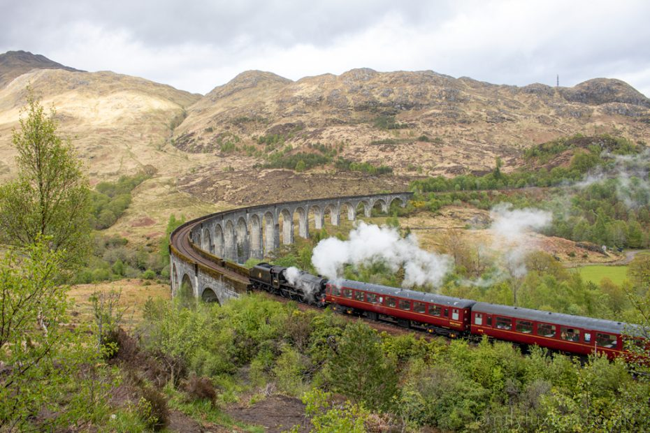 How to See the Harry Potter Train in Scotland - Jacobite Express Crossing Glenfinnan Viaduct